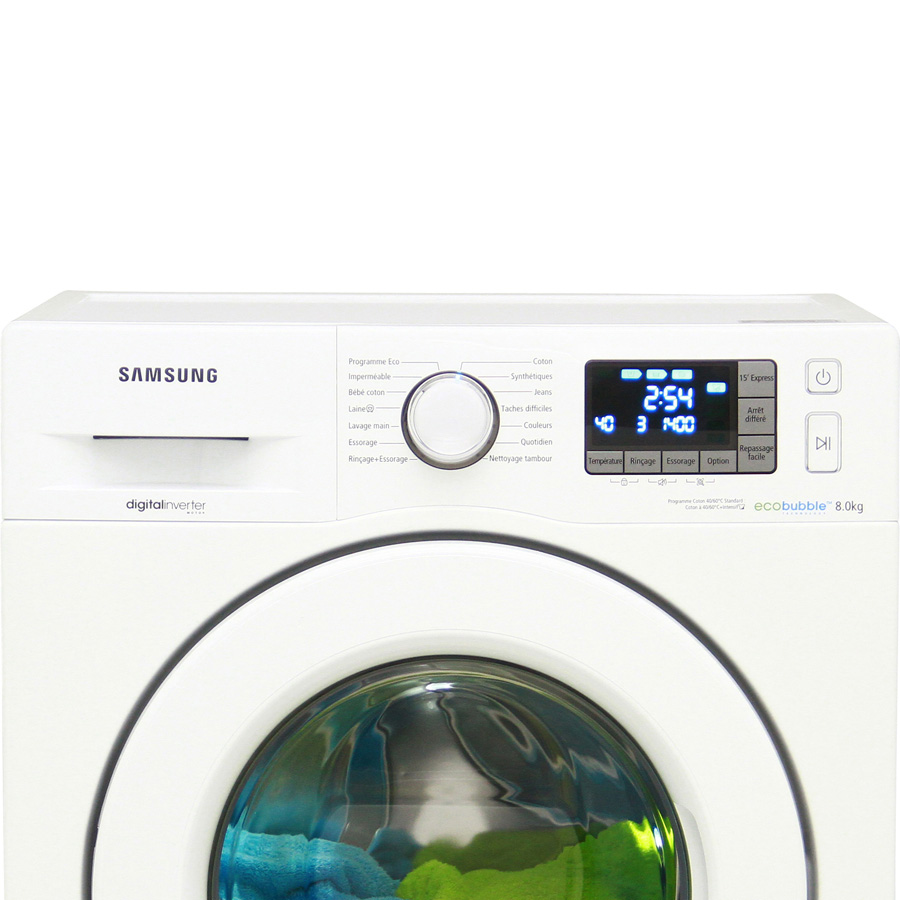 test samsung wf80f5e3u4w eco bubble lave linge ufc que. Black Bedroom Furniture Sets. Home Design Ideas