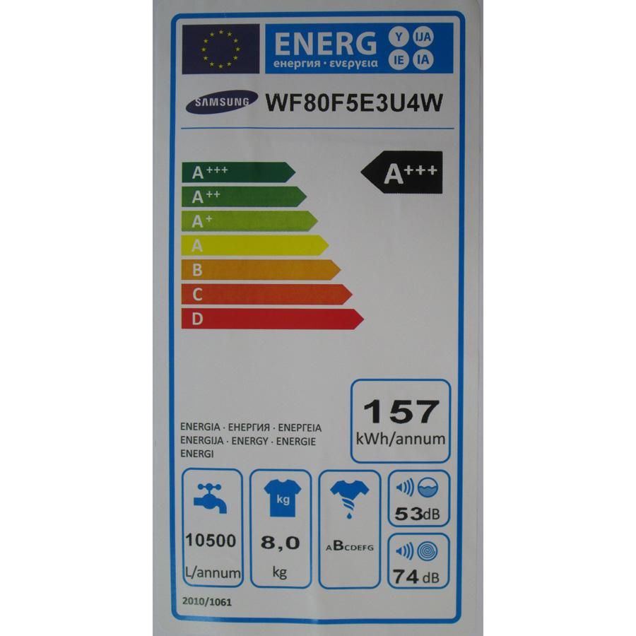 Samsung WF80F5E3U4W Eco Bubble (*19*) - Étiquette énergie
