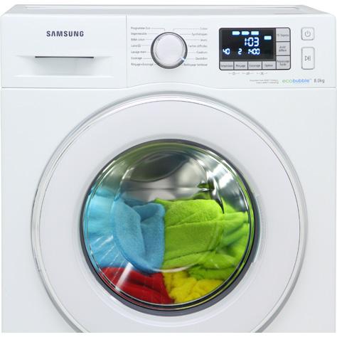 Samsung WF80F5E5W4W EcoBubble(*1*) - Vue principale