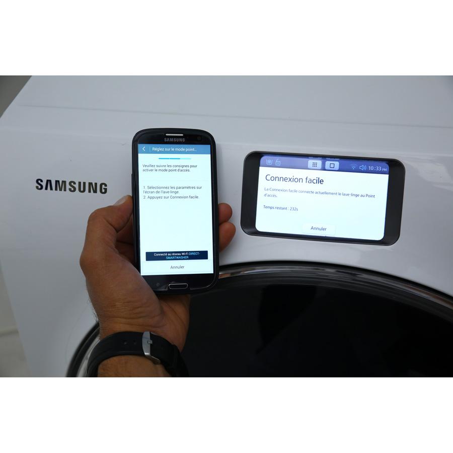 Samsung WW10H9400EW Crystal Blue WW9000 - Commandes via un smartphone