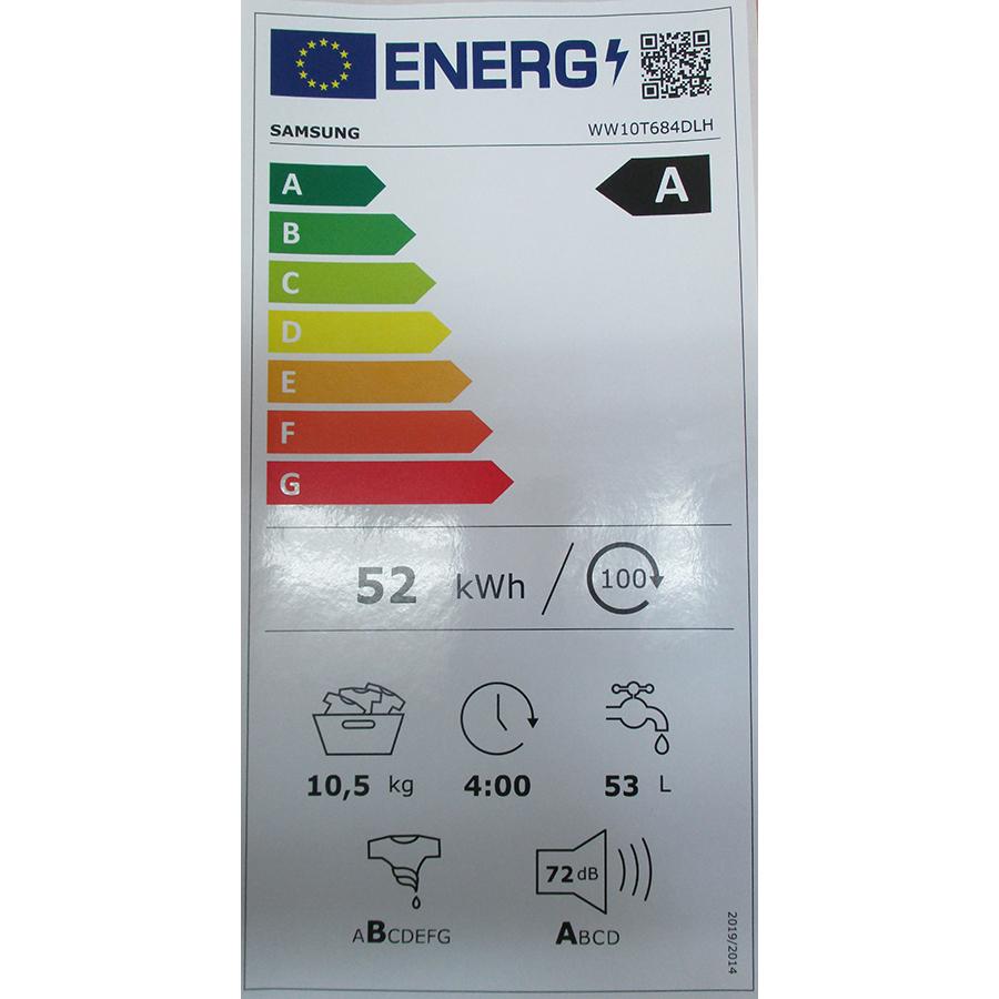 Samsung WW10T684DLH - Nouvelle étiquette énergie