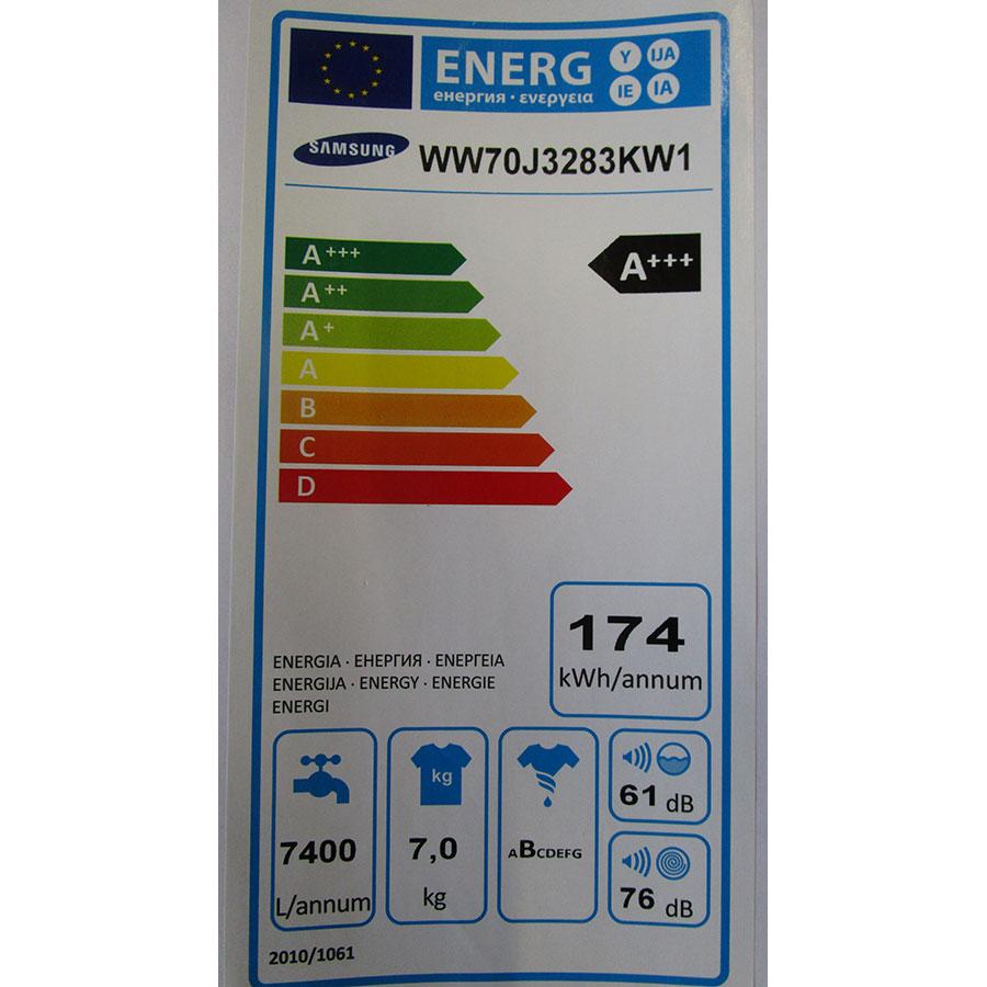 Samsung WW70J3283KW 1  - Étiquette énergie