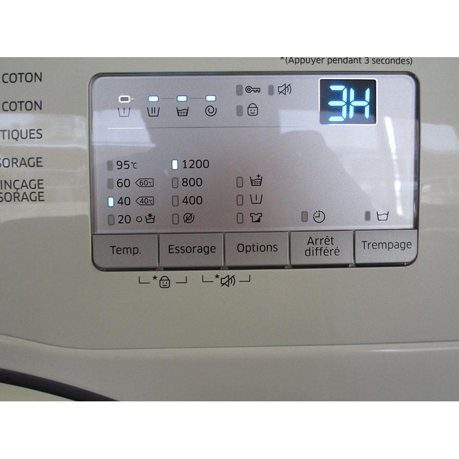 Samsung WW70J3283KW 1  - Afficheur et touches d'options