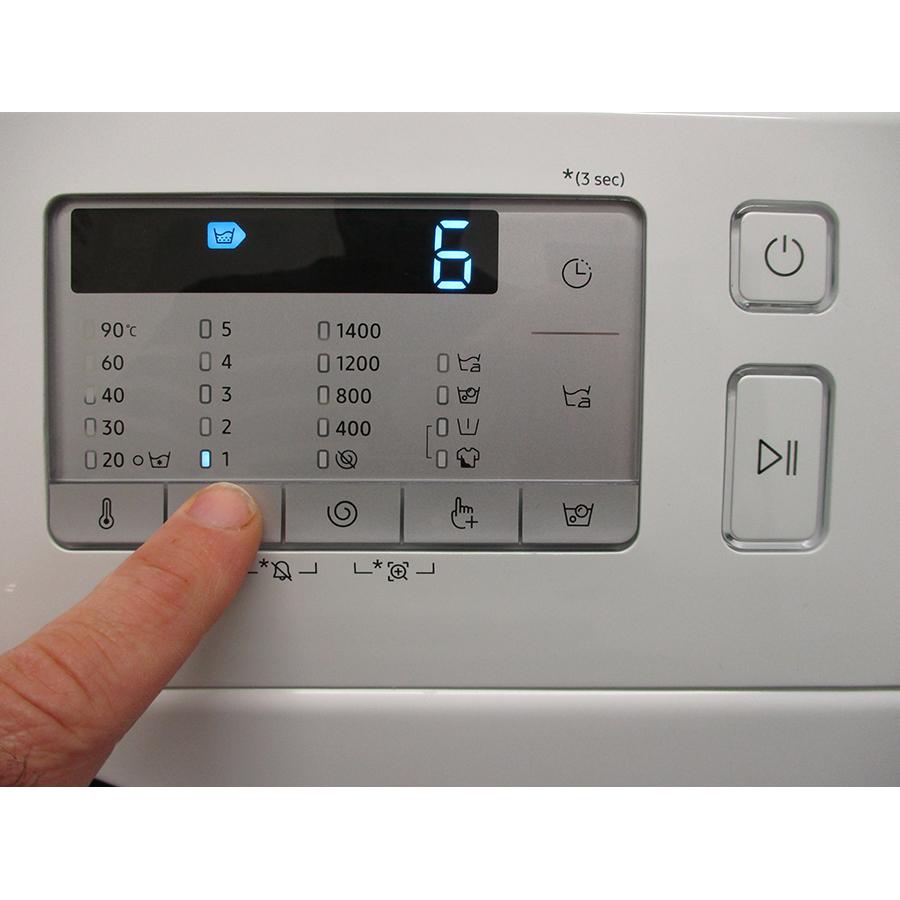 Samsung WW80TA046TH - Afficheur et touches d'options