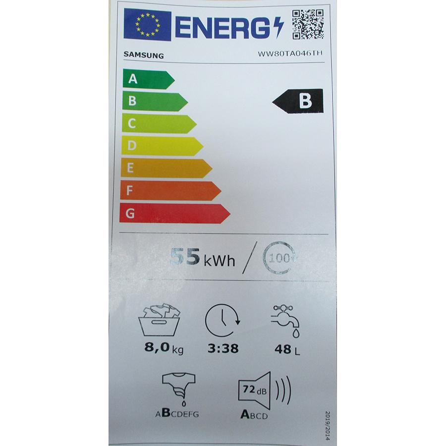 Samsung WW80TA046TH - Nouvelle étiquette énergie