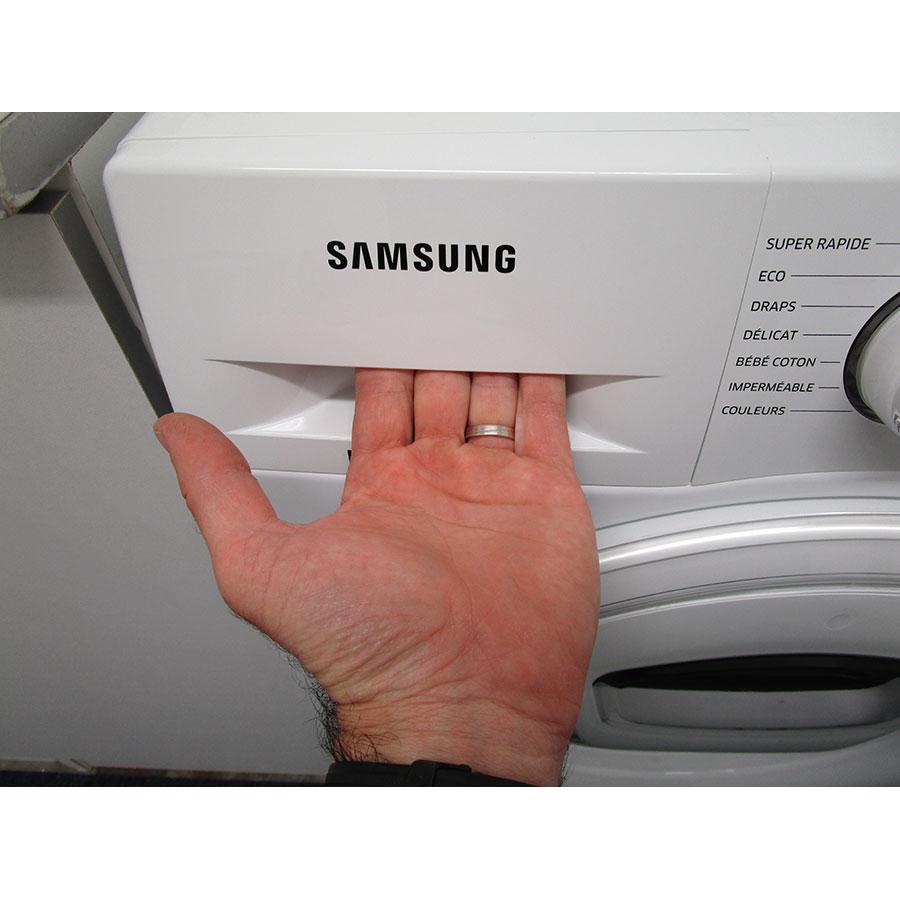 Samsung WW8EK6415SW Add wash - Ouverture du tiroir à détergents
