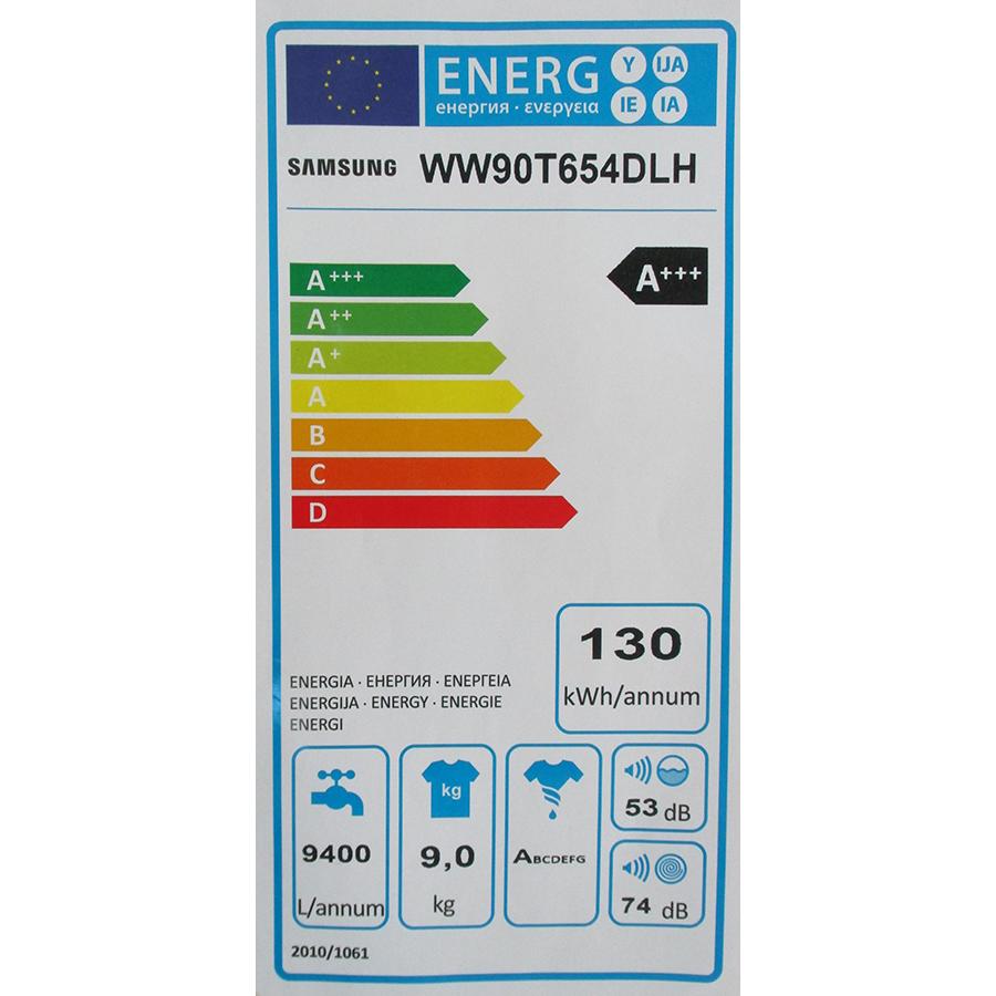 Samsung WW90T654DLH/S3 - Étiquette énergie
