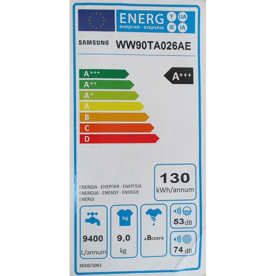 Samsung WW90TA026AE - Étiquette énergie
