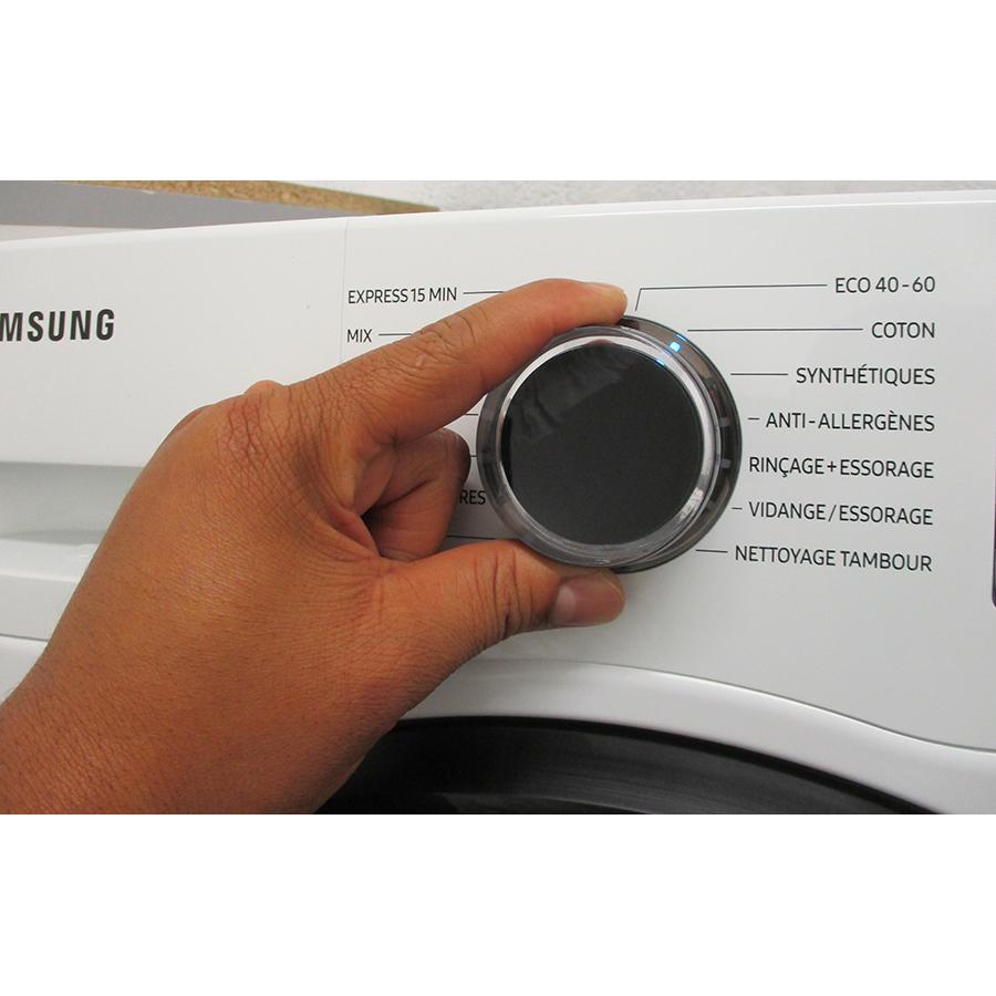 Samsung WW90TA026AE - Visibilité du sélecteur de programme