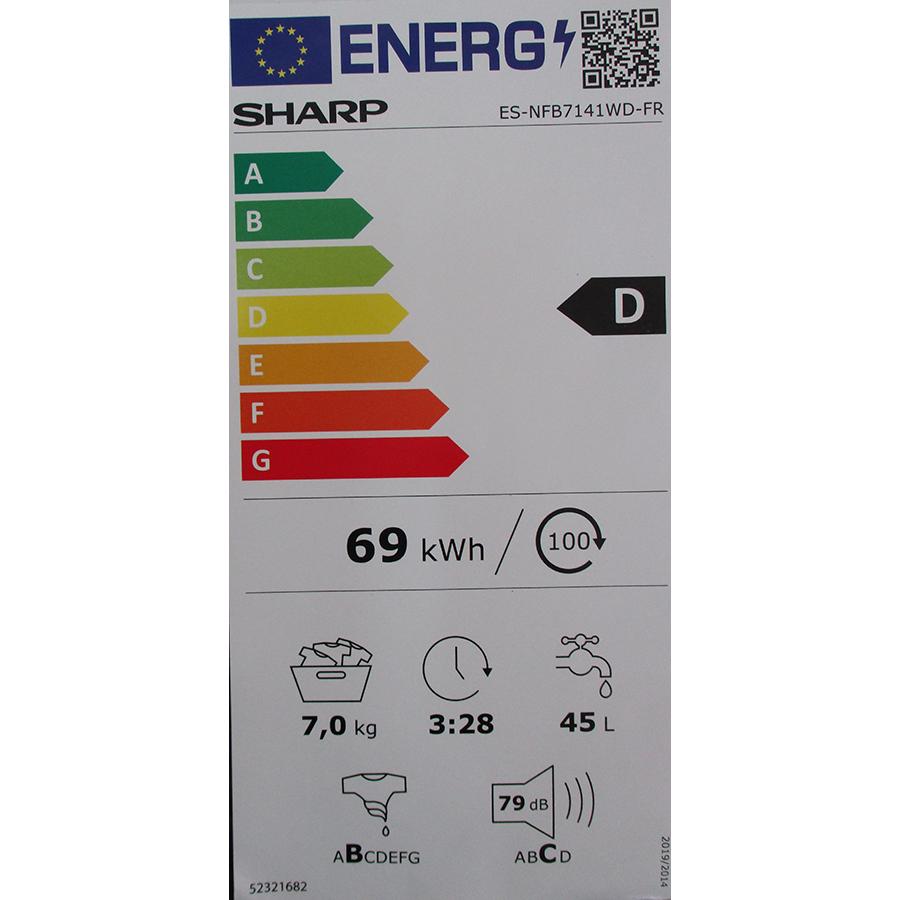 Sharp ESNFB7141WD - Nouvelle étiquette énergie