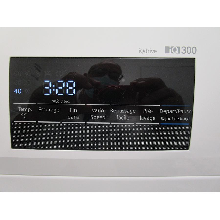 Siemens WM12N209FF - Afficheur et touches d'options