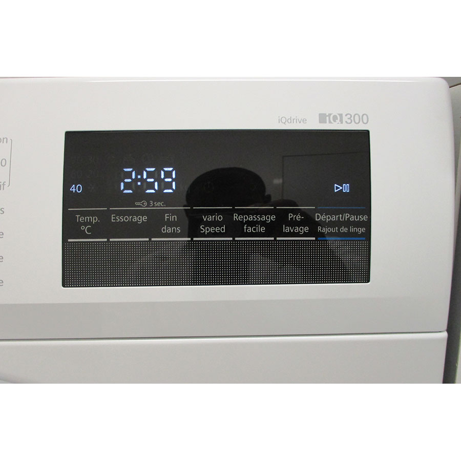 Siemens WM14N207FF - Afficheur et touches d'options