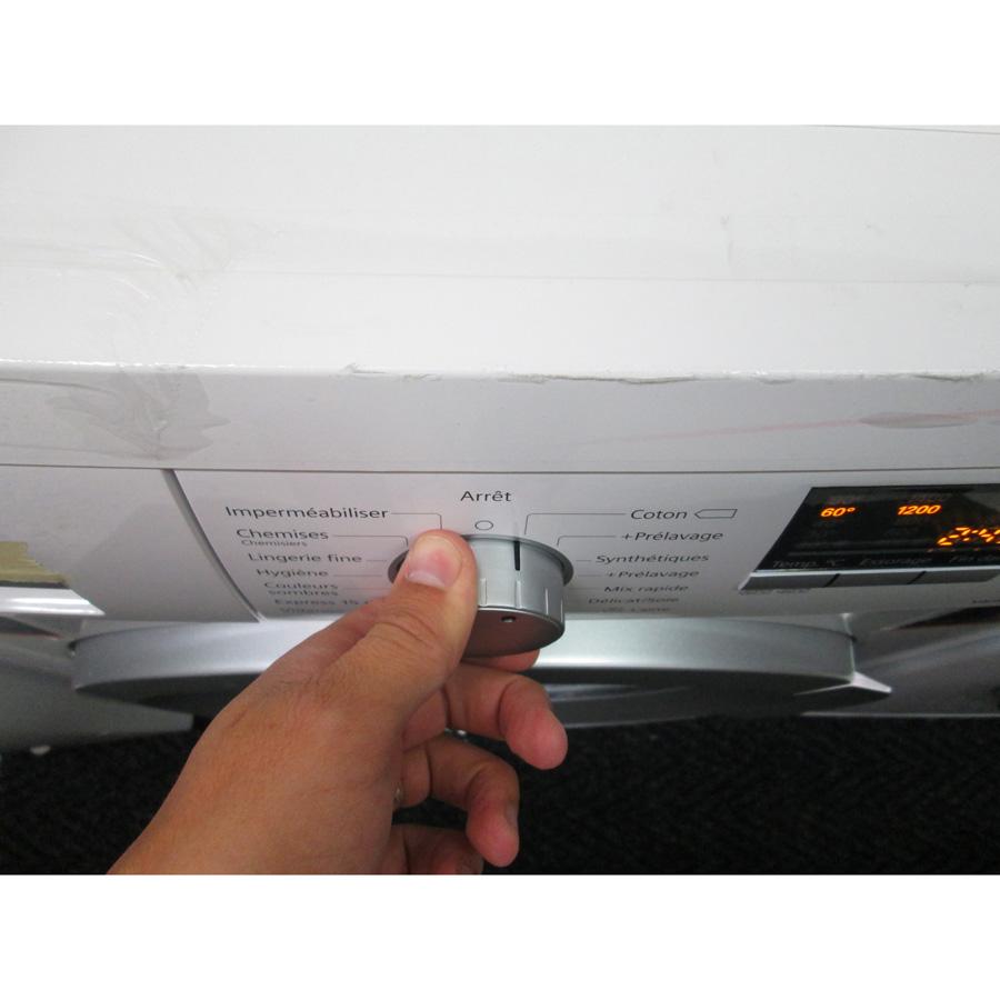 Siemens WM14Q472FF iQ500 (*12*) - Visibilité du sélecteur de programme