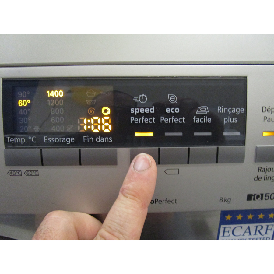 Siemens WM14Q49XFF - Touches d'option