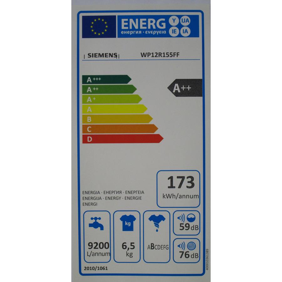 Siemens WP12R155FF iQ100 (*24*) - Étiquette énergie