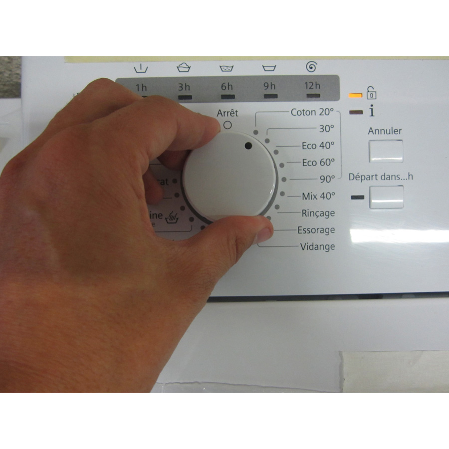 Siemens WP12R155FF iQ100 (*24*) - Visibilité du sélecteur de programme