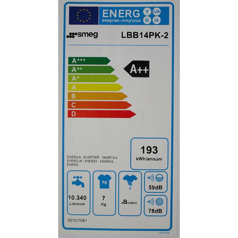 Smeg LBB14PK-2 - Étiquette énergie