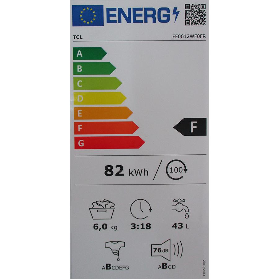 TCL FF0612WF0FR - Nouvelle étiquette énergie