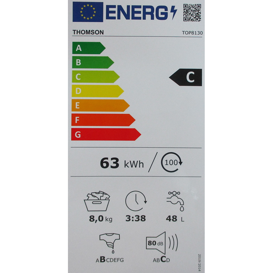 Thomson (Darty) TOP8130 - Nouvelle étiquette énergie