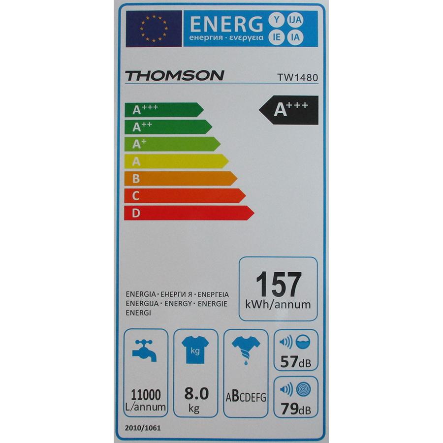 Thomson (Darty) TW1480 - Étiquette énergie
