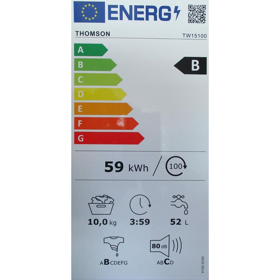 Thomson TW15100 - Nouvelle étiquette énergie