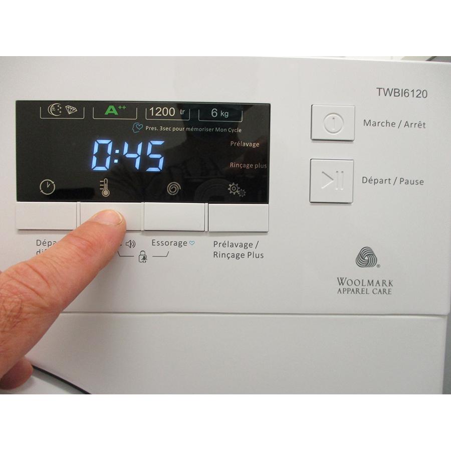 Thomson TWBI6120 - Afficheur et touches d'options