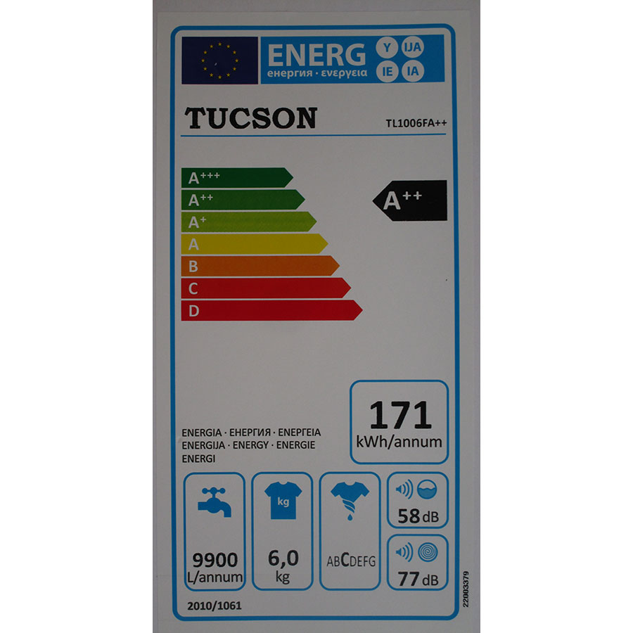 Tucson TL1006FA++ - Étiquette énergie