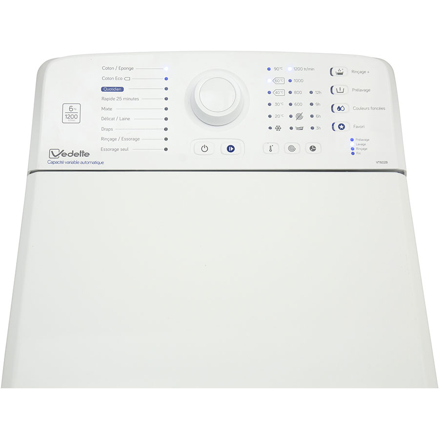 Test vedette vt602b lave linge ufc que choisir - Que choisir machine a laver ...