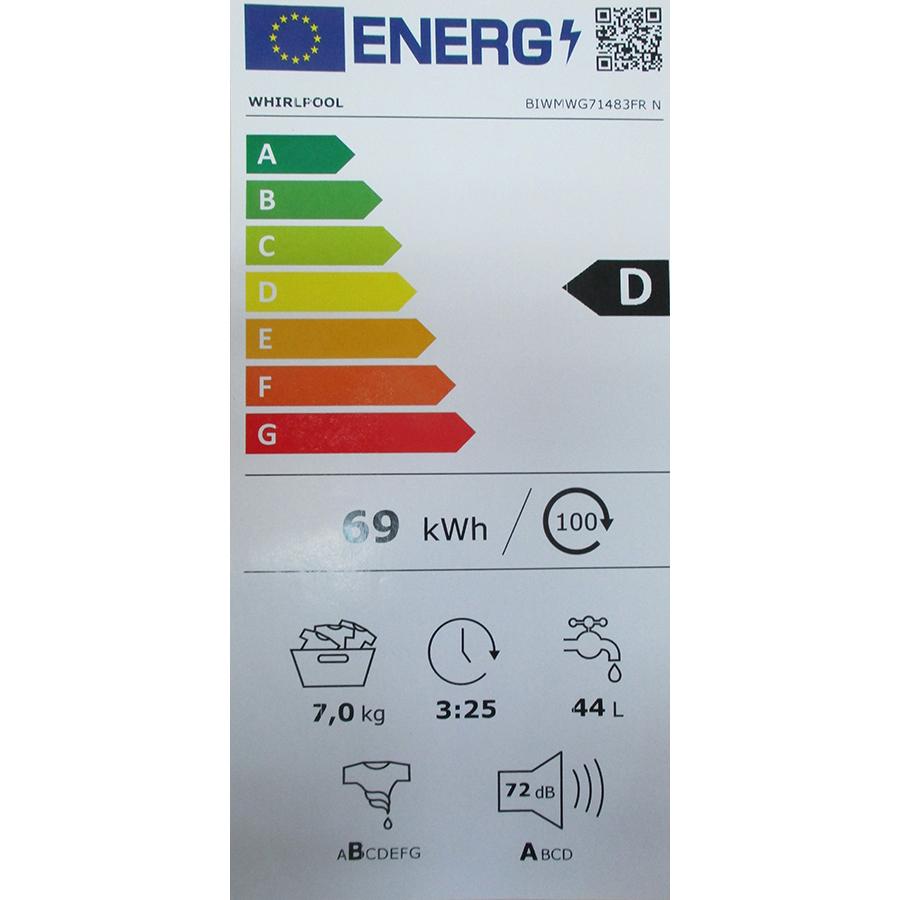 Whirlpool BIWMWG71483FR N - Nouvelle étiquette énergie