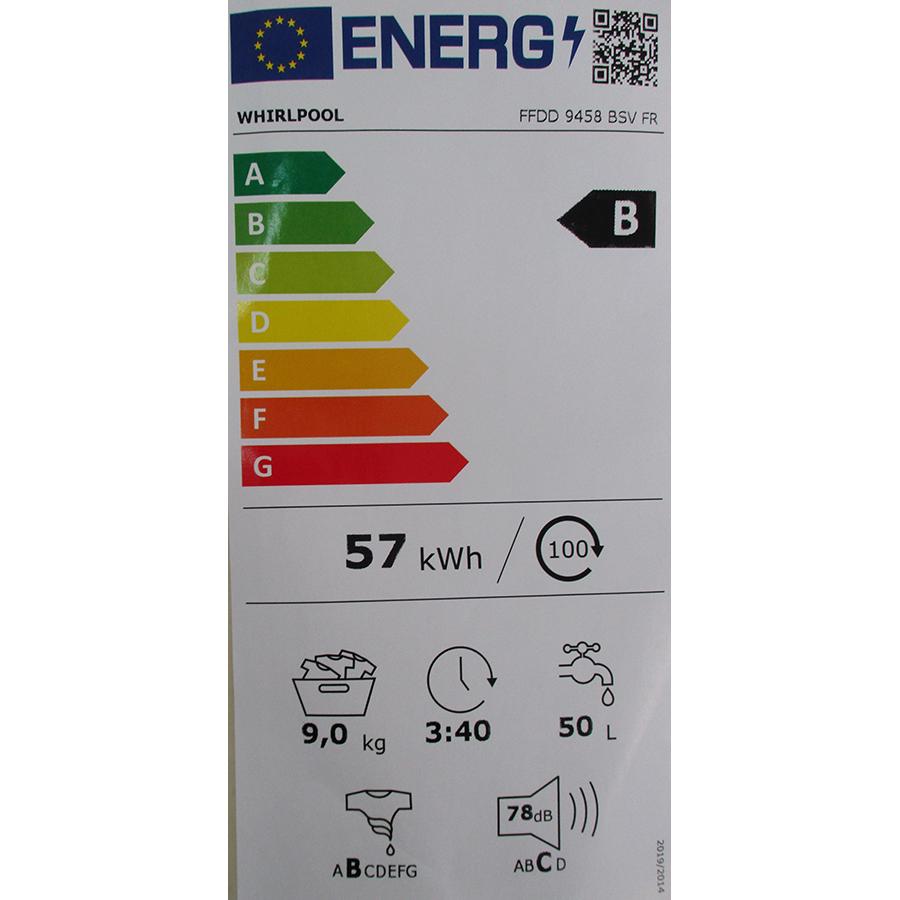 Whirlpool FFDD9458BSVFR - Nouvelle étiquette énergie