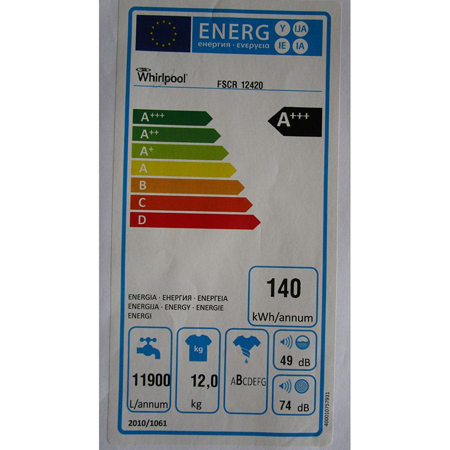 Whirlpool FSCR12420 - Étiquette énergie