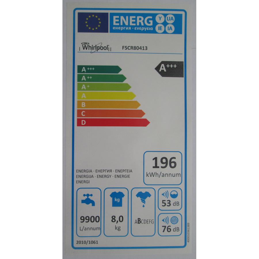 Whirlpool FSCR80413 - Étiquette énergie