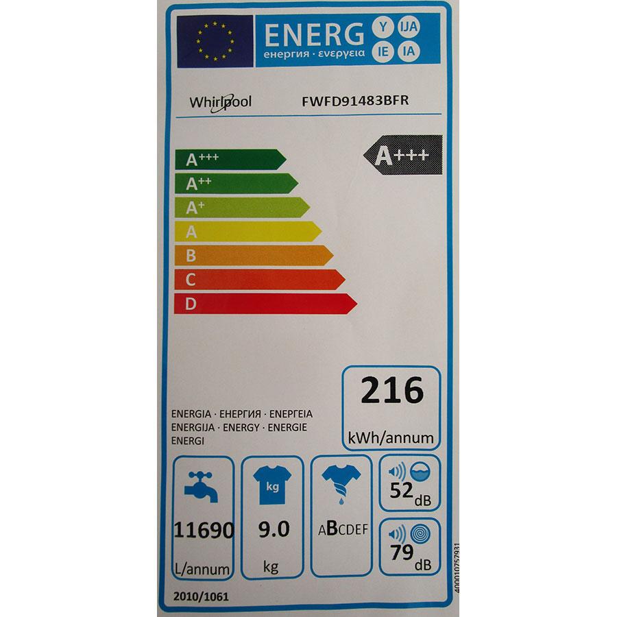 Whirlpool FWFD91483BFR - Étiquette énergie