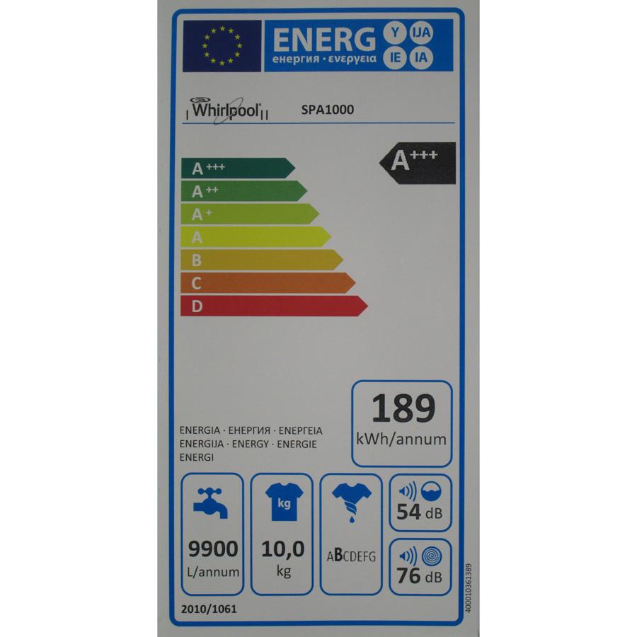 Whirlpool SPA1000 6ème Sens InfiniteCare - Étiquette énergie