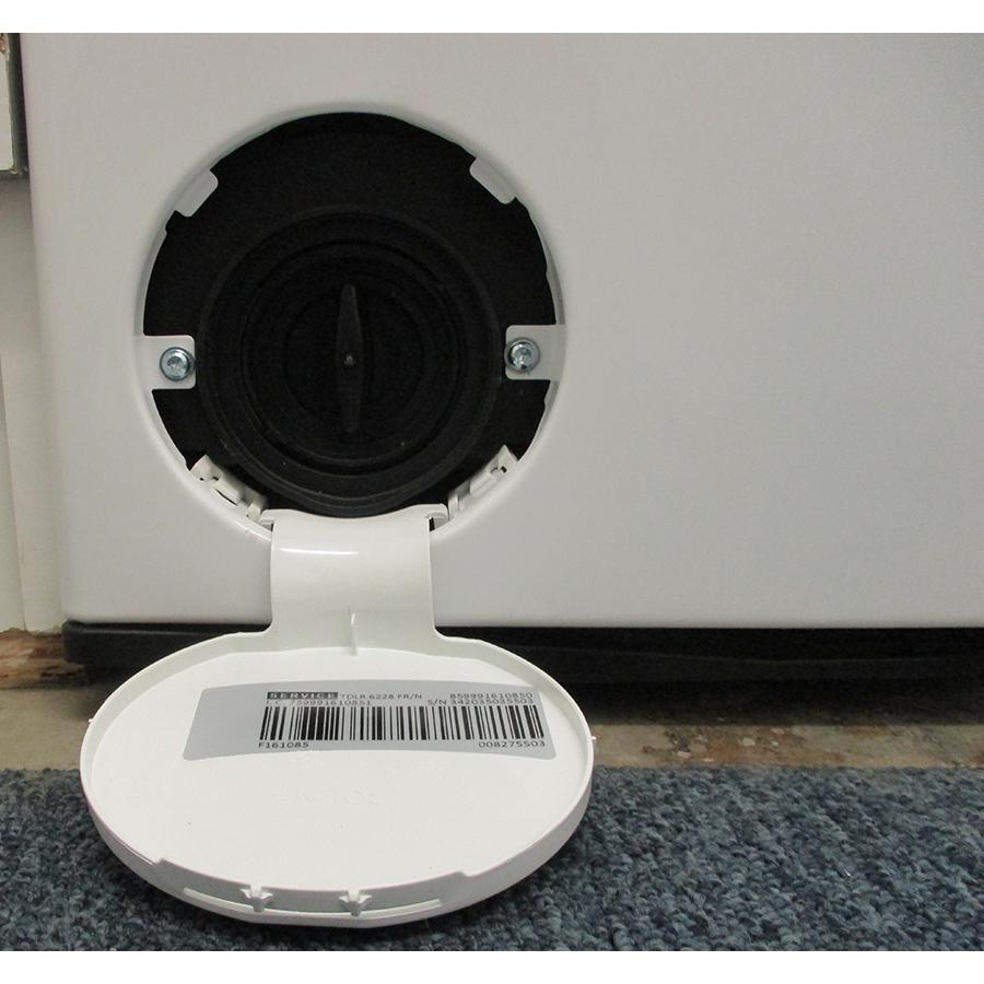 Whirlpool TDLR6228FR/N - Bouchon du filtre de vidange
