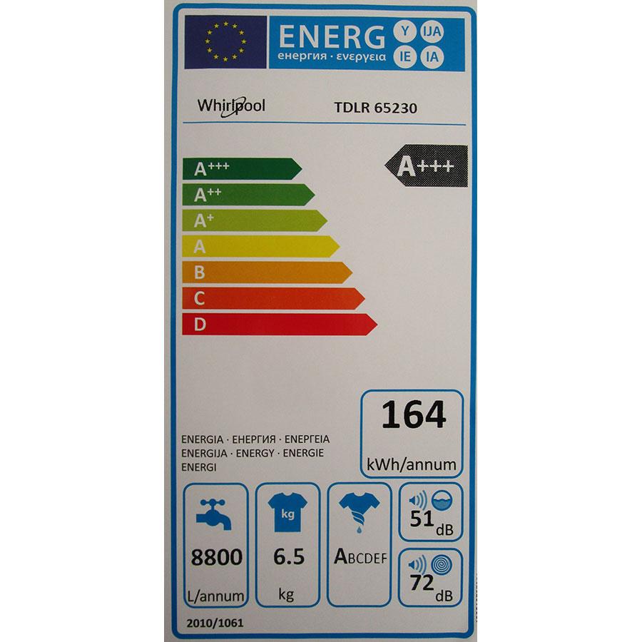 Whirlpool TDLR65230 - Étiquette énergie