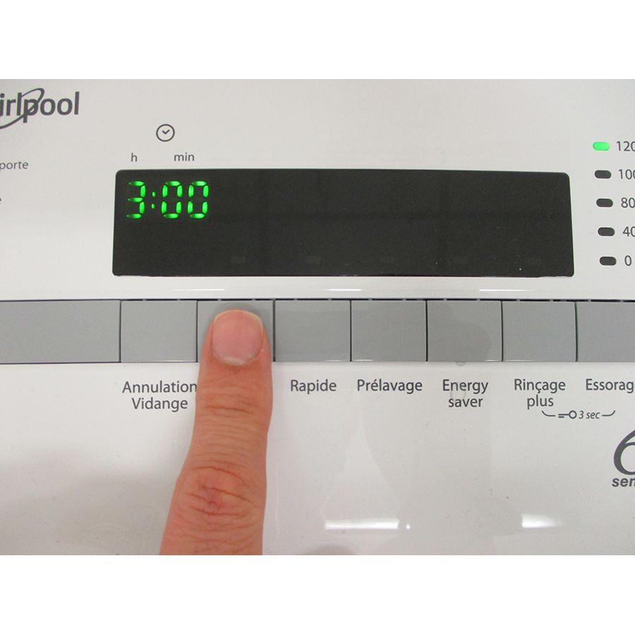 Whirlpool TDLR65230SFRN - Touches d'option