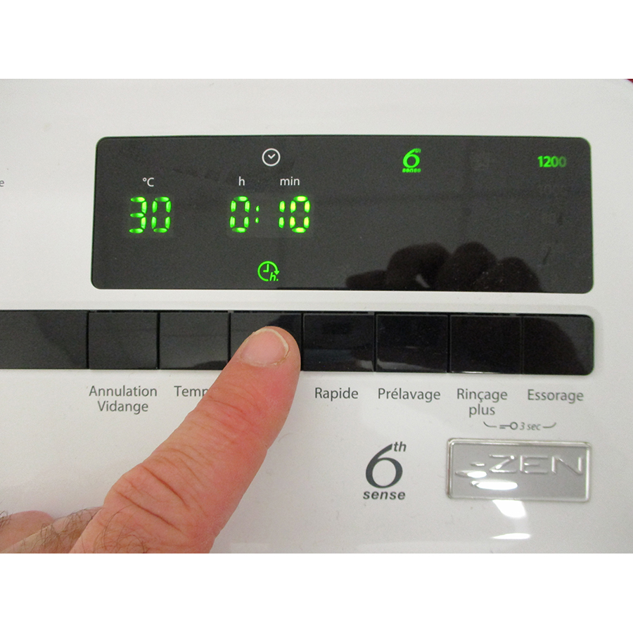 Whirlpool TDLRB6242BSFR/N - Afficheur et touches d'options