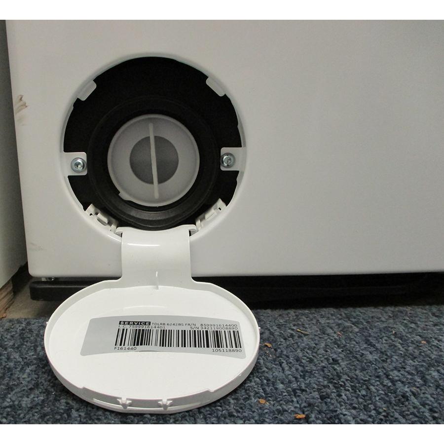 Whirlpool TDLRB6242BSFR/N - Bouchon du filtre de vidange
