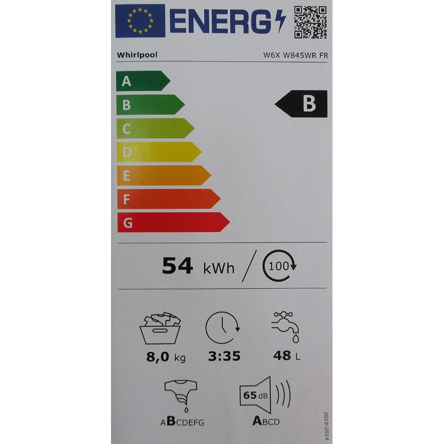 Whirlpool W6XW845WRFR Silence - Nouvelle étiquette énergie