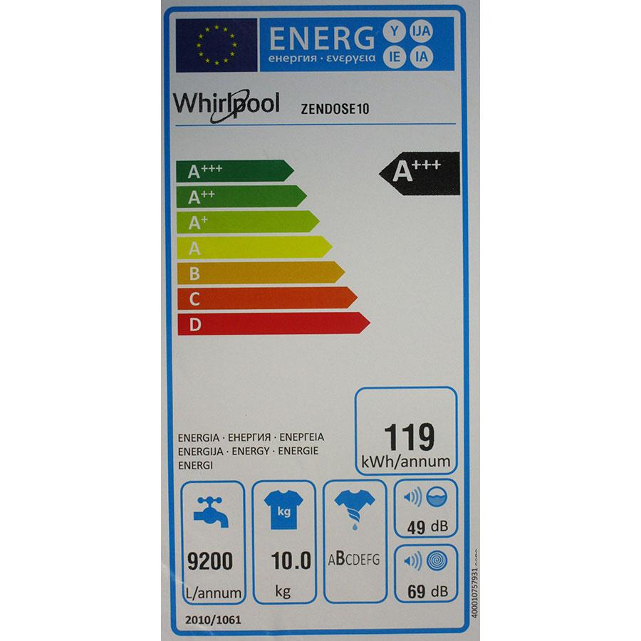 Whirlpool Zendose10 - Étiquette énergie