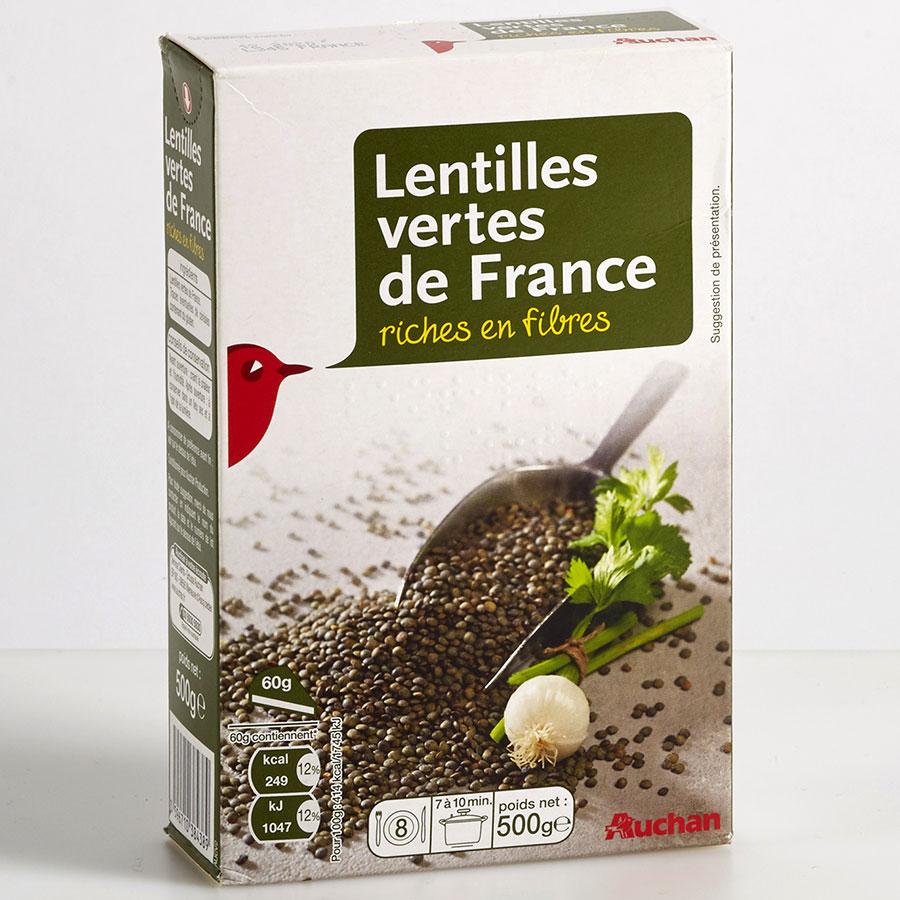 Auchan Lentilles vertes de France -