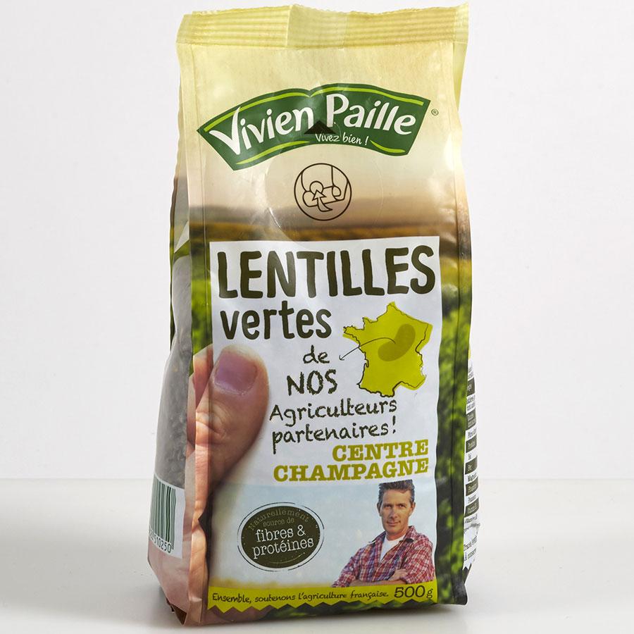 Vivien Paille Lentilles vertes de nos agriculteurs partenaires -