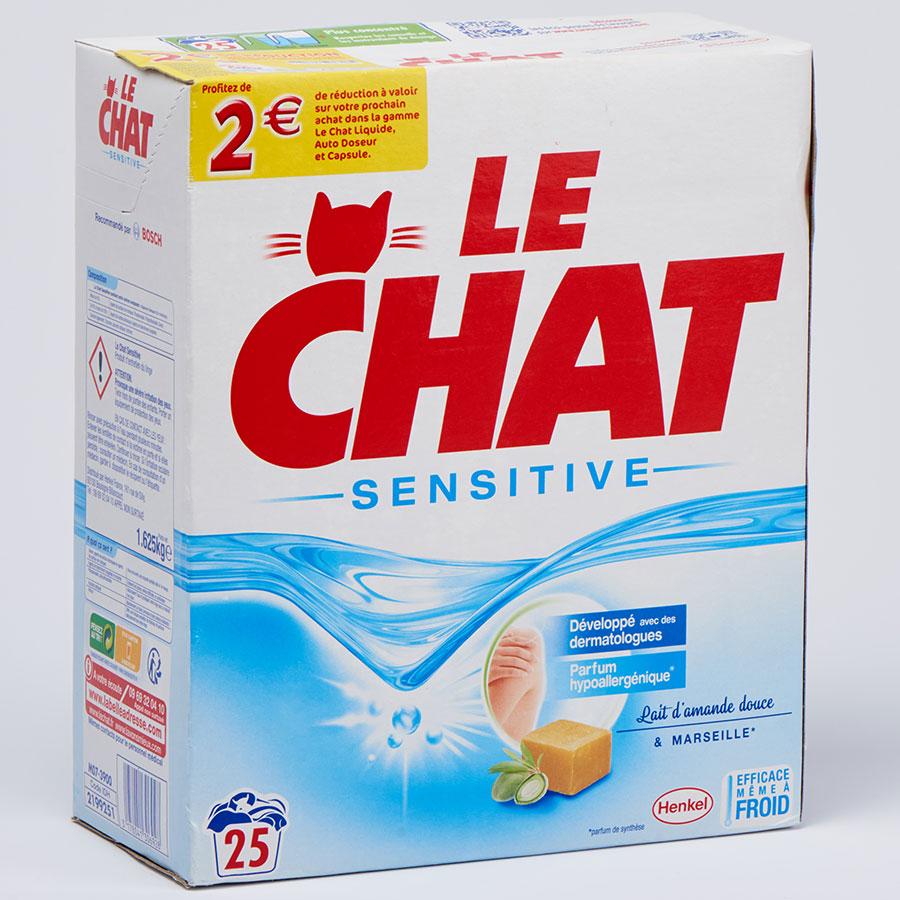 Le Chat Sensitive lait d'amande douce et Marseille -