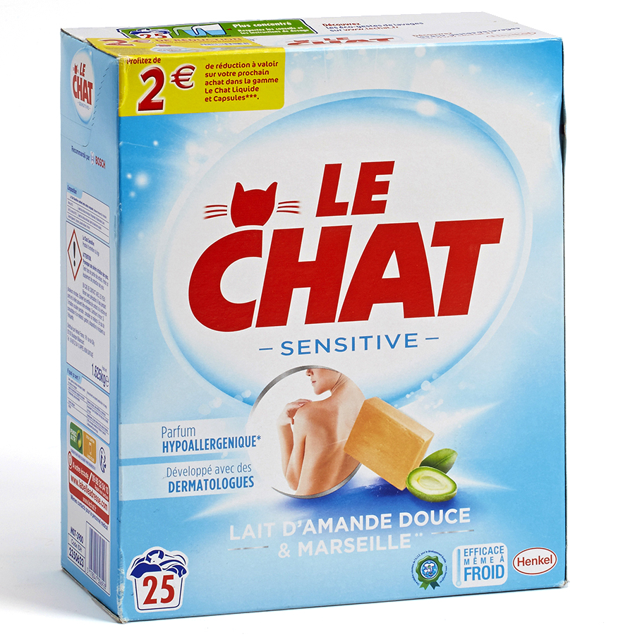 Le Chat Sensitive Lait d'amande douce & Marseille -