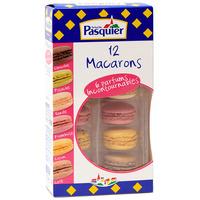Pasquier 12 macarons (chocolat, pistache, vanille, framboise, citron, café)