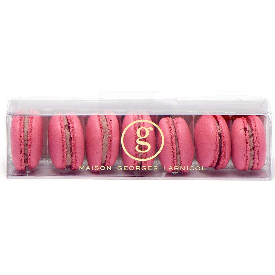George Larnicol Boîte de 7 macarons framboise -