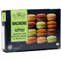 Lidl 12 macarons (chocolat, café, pistache, caramel au beurre salé)