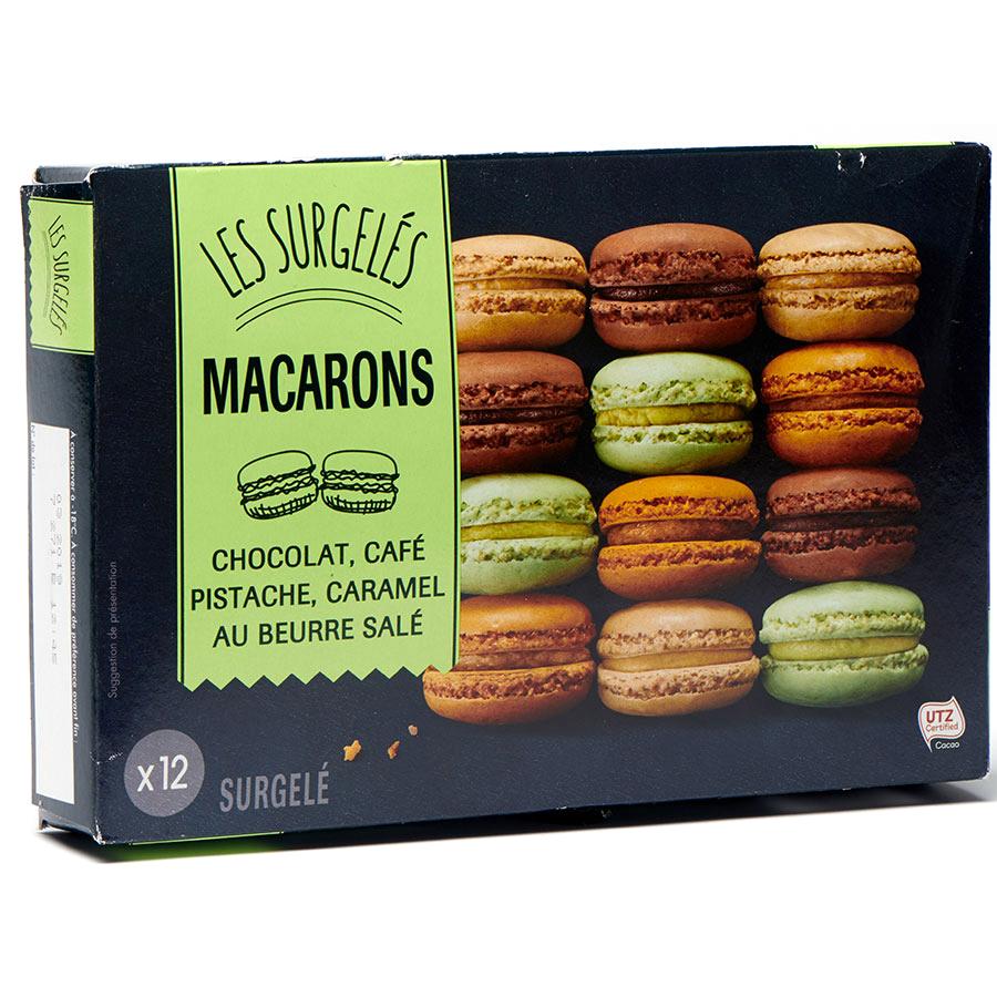 Lidl 12 macarons (chocolat, café, pistache, caramel au beurre salé) -