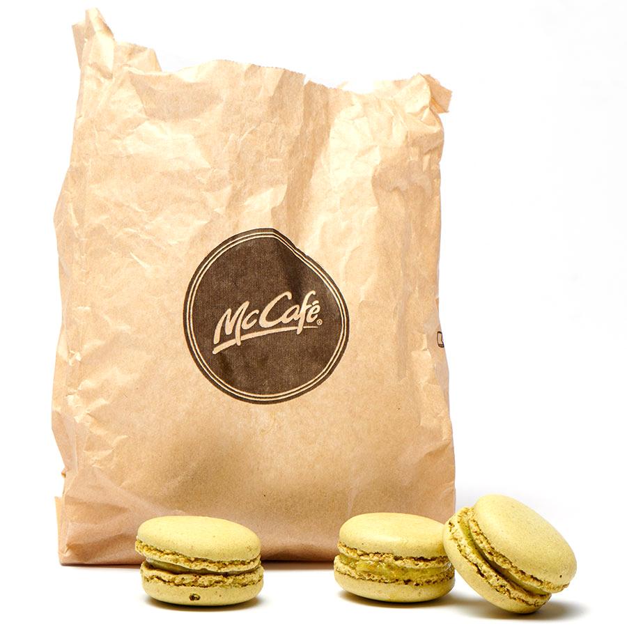 Mc Café 6 macarons pistache -